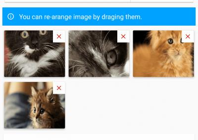 تصميم برنامج موقع سوق إلكتروني - تطبيق جوال إضافة عرض صور