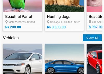 تصميم برنامج موقع سوق إلكتروني - تطبيق جوال فئات وعروض سريعة